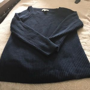 Navy cut out sweater